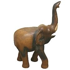 Eléphant en bois de mango